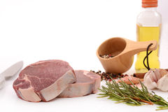 Raw meat, beef steak. Isolated on white background tenderloin Stock Image