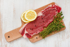 Raw meat with black pepper Royalty Free Stock Image