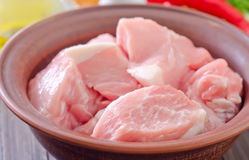 Raw meat. In the bowl Royalty Free Stock Images