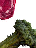 Raw Meat and Broccoli Royalty Free Stock Photo