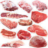 Raw meat collection Royalty Free Stock Photos