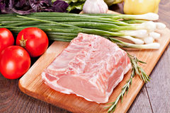 Raw meat for cooking. And  barbecue Stock Photos