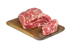 Raw meat on cutting board Royalty Free Stock Photo