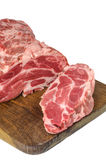 Raw meat on cutting board Royalty Free Stock Image