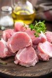 Raw meat, fillet, tenderloin stock photo