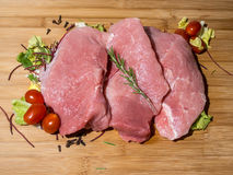 Raw Meat. Fresh Raw Meat,Cherry Tomato and Spices Royalty Free Stock Photos