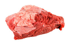 Raw meat. Fresh red raw beef isolated on white background royalty free stock images