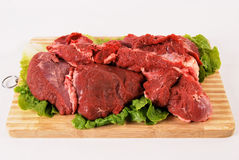 Raw meat. Fresh, raw meat texture of the red Royalty Free Stock Photos