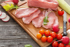 Raw meat with fresh vegetables Stock Image