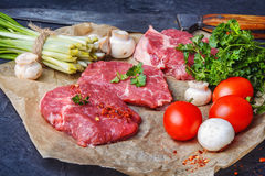 Raw meat home beef Royalty Free Stock Images