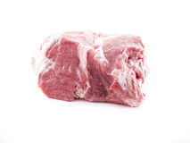 Raw meat. Image of raw red meat isolated close up Royalty Free Stock Photo