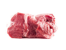 Raw meat. Image of raw red meat isolated close up Stock Image