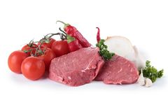 Raw meat and ingredient Stock Photo