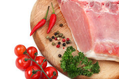 Raw meat with ingredients Stock Images