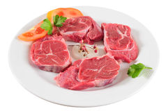 Raw meat. Isolated Royalty Free Stock Images