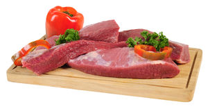 Raw meat. Isolated Royalty Free Stock Photo