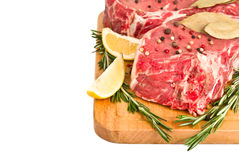 Raw meat isolated Stock Images