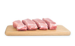 Raw meat isolated Stock Photos