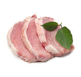Raw meat with leaf Royalty Free Stock Photography