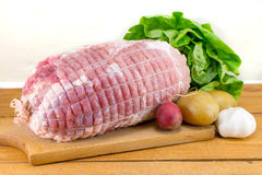Raw meat in a net Royalty Free Stock Photography