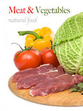 Raw meat with peppers Stock Image