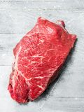 Raw meat. Piece of beef stock photo