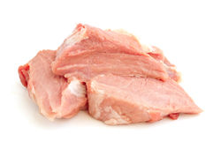 Raw meat of a pig. On a white background Stock Image
