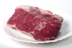 Raw meat on the plate Royalty Free Stock Photography