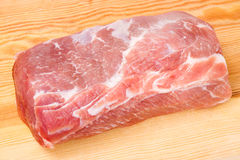 Raw meat, pork on cutting board Royalty Free Stock Photo