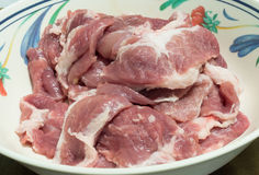 Raw meat pork. On the plate Stock Photography