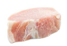 Raw meat pork ,Pork Loin  on white. Raw meat pork ,Pork Loin  ready to cook Stock Photo