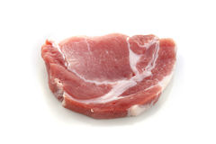 Raw meat, pork, slices pork. On a white background Royalty Free Stock Photos