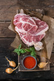 Raw meat pork steak Stock Images