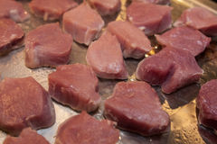 Raw meat prepared for barbecue Royalty Free Stock Photo