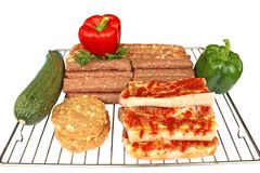 Raw meat ready for barbecue Stock Image