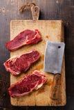 Raw meat Ribeye steak entrecote Stock Photo