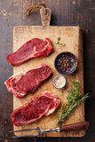 Raw meat Ribeye steak entrecote Stock Photography