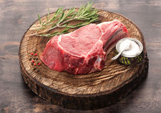 Raw meat Ribeye steak Royalty Free Stock Image