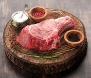 Raw meat Ribeye steak Royalty Free Stock Photos