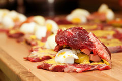 Raw meat rol Stock Photography