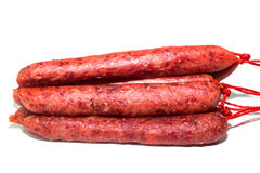 Raw meat sausages Royalty Free Stock Photos