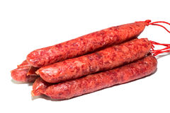 Raw meat sausages Stock Image