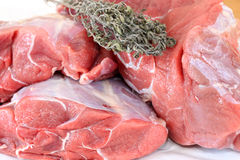 Raw meat - sirloin slab Royalty Free Stock Photo