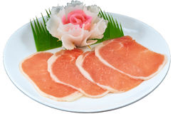 Raw Meat Slice Stock Photo