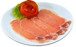 Raw Meat Slice. The Isolation raw food ingredient in the decorated container stock image