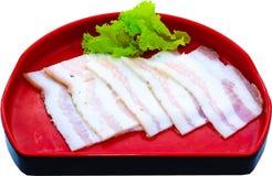 Raw Meat Slice Stock Photo