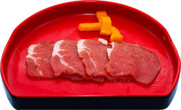 Raw Meat Slice Royalty Free Stock Photography