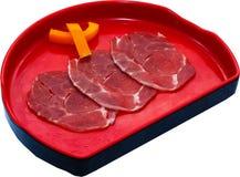 Raw Meat Slice Stock Image