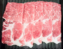 Raw meat slices. Ready to be cooked able to use as background Royalty Free Stock Image