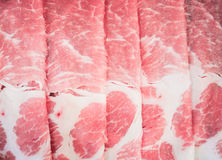 Raw meat slices. Ready to be cooked able to use as background Royalty Free Stock Photo